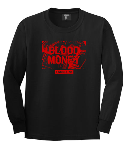 Blood Money 100s Mens Long Sleeve T-Shirt Black