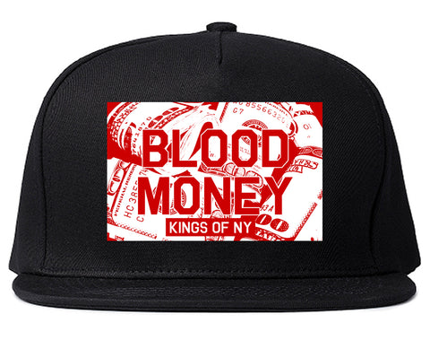 Blood Money 100s Mens Snapback Hat Black