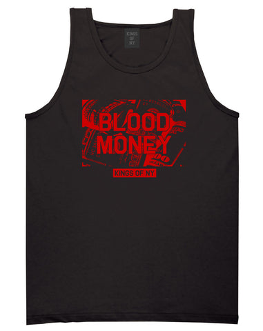 Blood Money 100s Mens Tank Top Shirt Black
