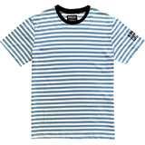 Blue And White Striped Mens T-Shirt