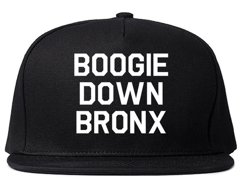 Boogie Down Bronx Mens Snapback Hat Black