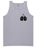 Boxing Gloves Chest Grey Tank Top Shirt by Kings Of NY