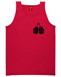 Boxing Gloves Chest Red Tank Top Shirt by Kings Of NY