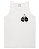Boxing Gloves Chest White Tank Top Shirt by Kings Of NY