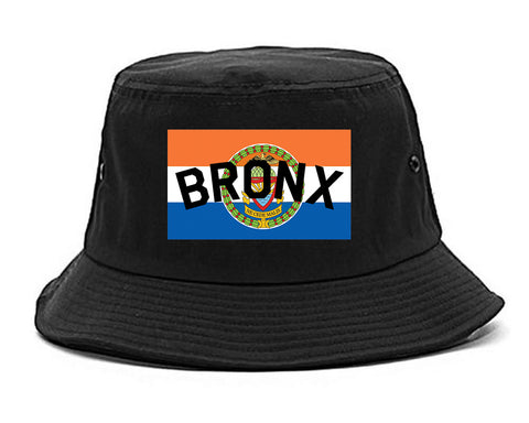 Bronx Flag Mens Snapback Hat Black