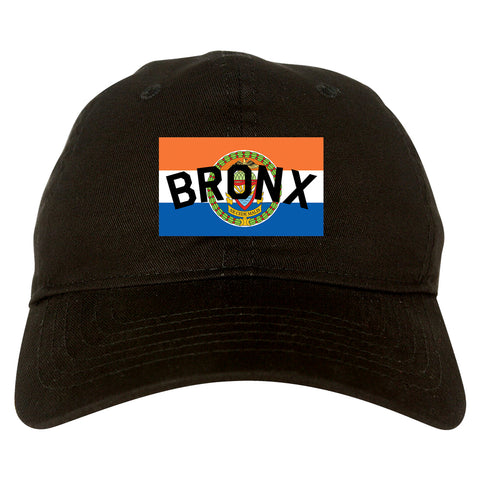 Bronx Flag Mens Dad Hat Baseball Cap Black