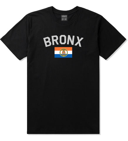 Bronx Flag Mens T Shirt Black