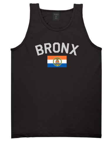 Bronx Flag Mens Tank Top Shirt Black