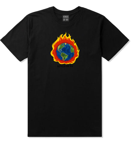 Burning Earth Mens T-Shirt Black
