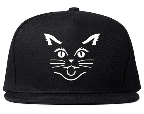 Cat Face Halloween Snapback Hat