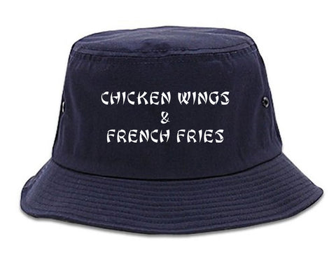 a0ca3cb27c964 Chicken Wings And French Fries Mens Bucket Hat by Kings Of NY ...