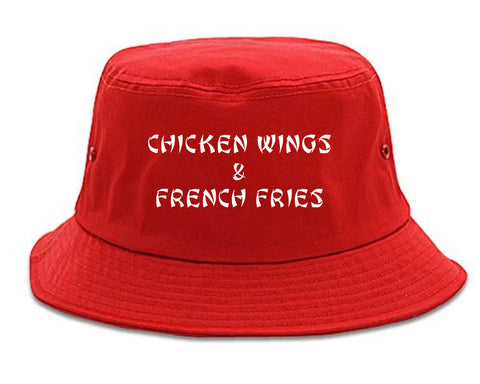 Chicken Wings And French Fries Mens Bucket Hat by Kings Of NY ... dab4ec72dfe