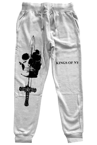 Coming For Your Head Skull Mens Sweatpants Grey