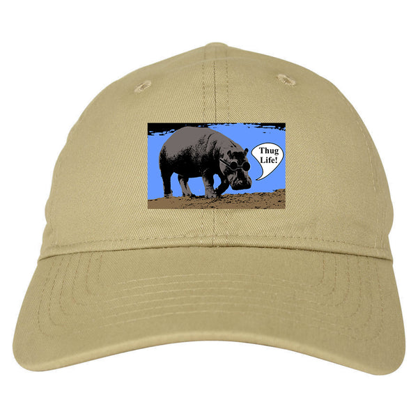 417b9dbcce577 Cool Hippo Thug Life Funny Mens Dad Hat Baseball Cap by KINGS OF NY