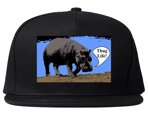 927670f1bf382 Cool Hippo Thug Life Funny Mens Snapback Hat by Kings Of NY – KINGS ...