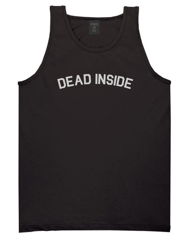 Dead Inside Arch Mens Tank Top Shirt Black by Kings Of NY