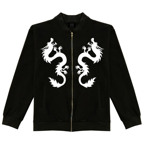 Chinese Dragon Bomber Jacket Black