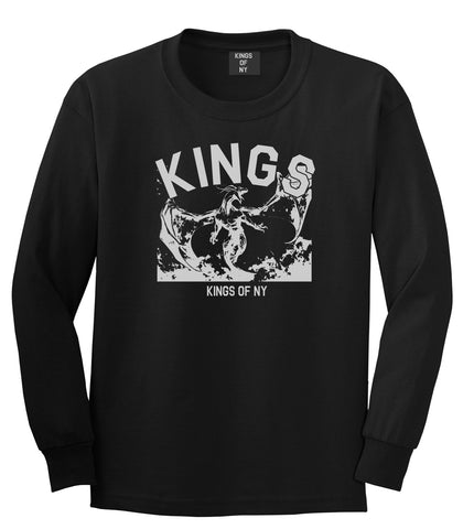 Dragon Kings Long Sleeve T-Shirt in Black