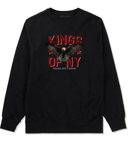 Eagle Kings Of NY Forever Mens Crewneck Sweatshirt Black