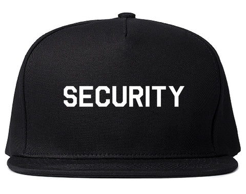 Event_Security_Uniform Black Snapback Hat