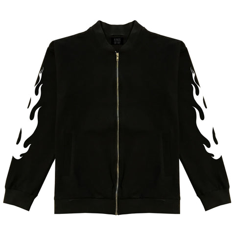 Flame Sleeves Bomber Jacket