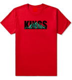 Giza Egyptian Pyramids T-Shirt in Red