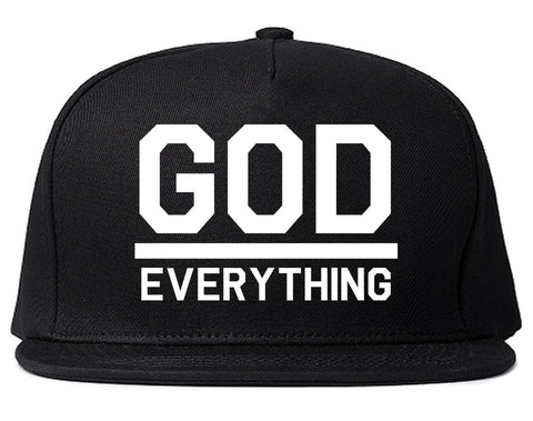 God Over Everything Mens Snapback Hat Black
