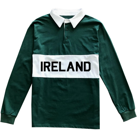 Green Irish Ireland Mens Rugby Shirt