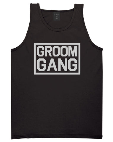 Groom Gang Bachelor Party Black Tank Top Shirt by Kings Of NY