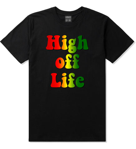 High Off Life Mens T-Shirt Black by Kings Of NY