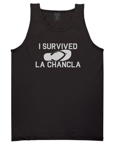 5d11edd6 I Survived La Chancla Funny Spanish Mens Tank Top Shirt by Kings Of ...