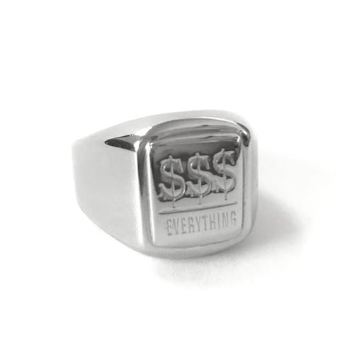 Money Over Everything Silver Ring