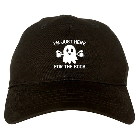 Im Just Here For The Boos Halloween Mens Dad Hat Baseball Cap Black