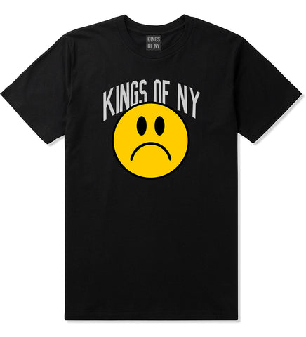 Im Upset Sad Face Mens T-Shirt Black by Kings Of NY