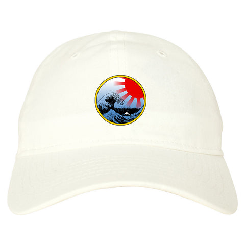 19eeafd642d ... where to buy japanese wave print mens dad hat baseball cap white 3900f  de130