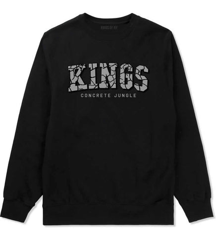 KINGS Conrete Jungle Mens Crewneck Sweatshirt Black