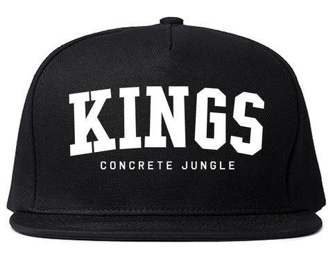 KINGS Conrete Jungle Mens Snapback Hat Black
