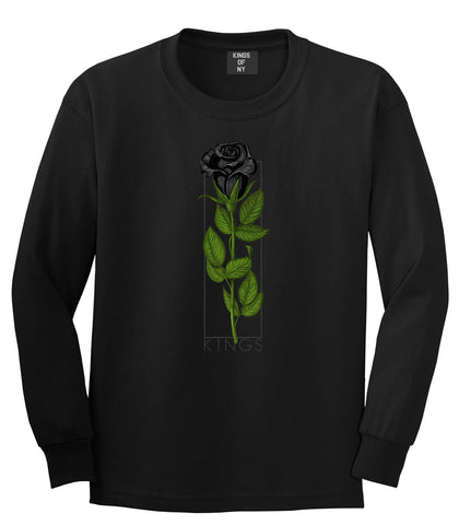 KINGS Black Roses Long Sleeve T-Shirt in Black