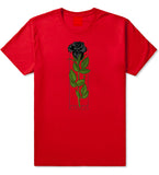 KINGS Black Roses T-Shirt in Red