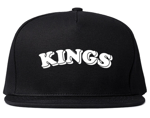 KINGS Bubble Letters Snapback Hat Cap in Black