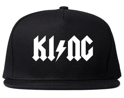 KI NG Music Parody Snapback Hat Cap in Black