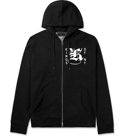 K Middle Chest Zip Up Hoodie