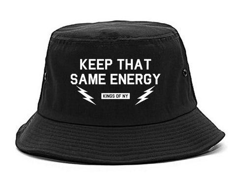 Keep That Same Energy Mens Snapback Hat Black