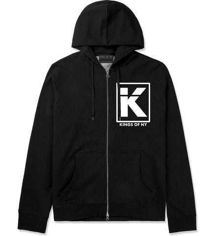 Kila Logo Parody Zip Up Hoodie in Black