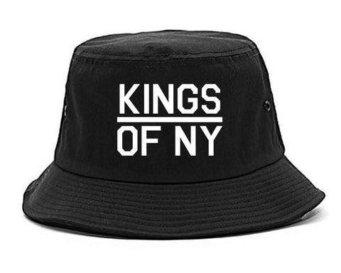 Kings Of NY Classic Chest Logo Mens Snapback Hat Black