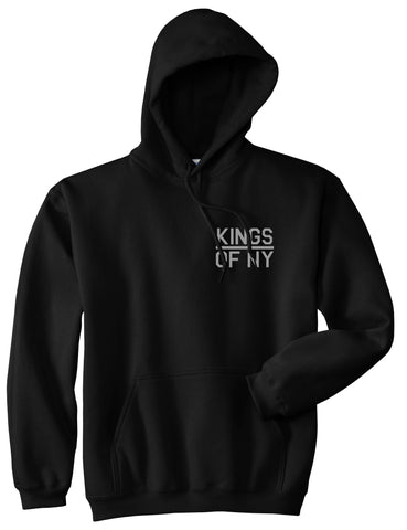 Kings Of NY Classic Chest Logo Mens Pullover Hoodie Black