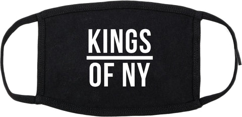 KINGS OF NY Black Cotton Face Mask