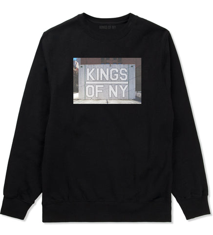 Kings Of NY Handball Court Mens Crewneck Sweatshirt Black