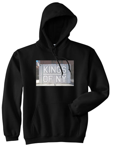 Kings Of NY Handball Court Mens Pullover Hoodie Black
