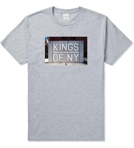 Kings Of NY Handball Court Mens T Shirt Grey